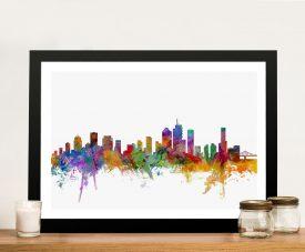Brisbane Australia Skyline Framed Wall Art