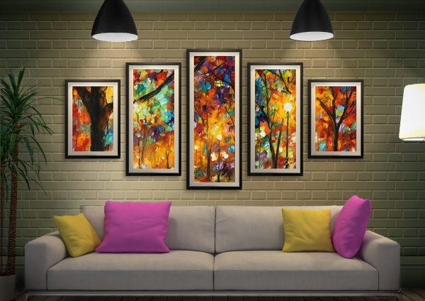 Buy Colourful Night 5-Panel Art by Leonid Afremov