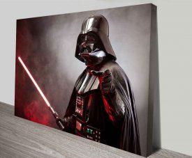 darth vader laser sword wall print on canvas australia
