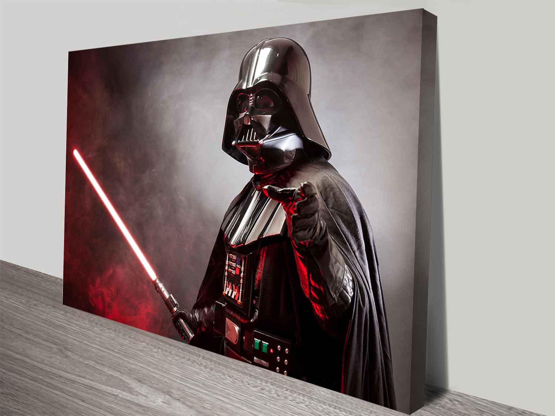 darth vader 39 s laser sword wall art print on canvas australia. Black Bedroom Furniture Sets. Home Design Ideas