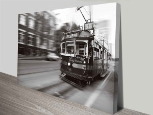 flinders street melbourne tram wall art canvas