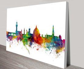florence italy skyline by michael tompsett wall art canvas