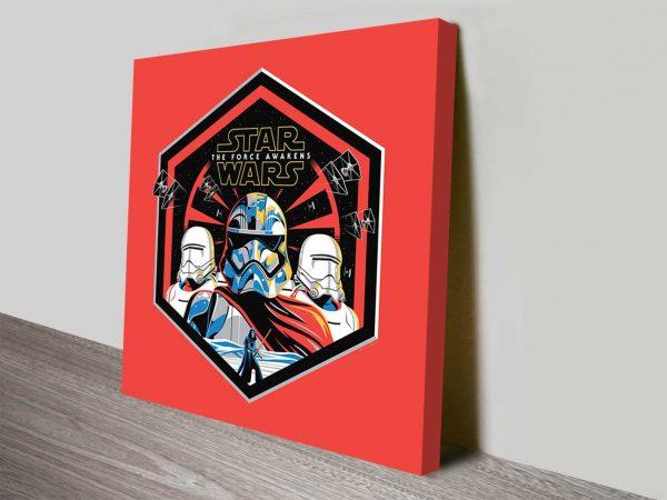 the force awakens retro square canvas art
