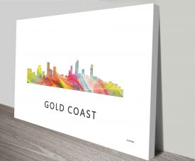 gold coast queensland skyline wall art canvas print australia
