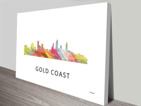 gold coast queensland skyline wall art canvas print australia