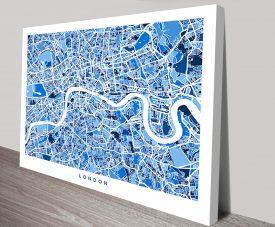 london england street map typographic art