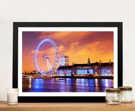 The London Eye Framed Print on Canvas