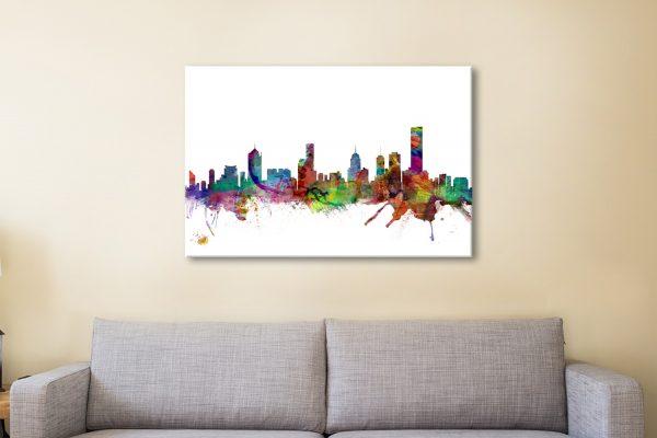 Buy a Melbourne Skyline Print Great Gift Ideas AU