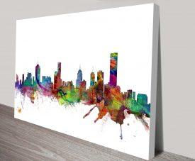 melbourne skyline by michael tompsett canvas print australia