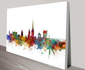 norwich england skyline by michael tompsett wall art canvas