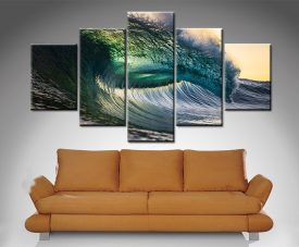 oceans might 5 panel wall art print canvas australia