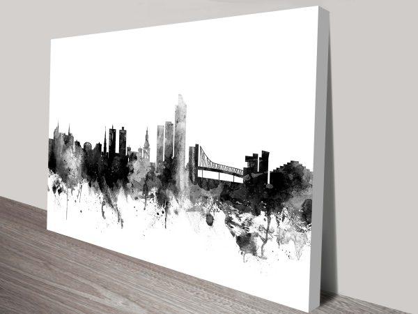 oslo norway skyline by michael tompsett wall art canvas