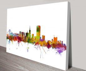 san francisco city skyline by michael tompsett wall art canvas