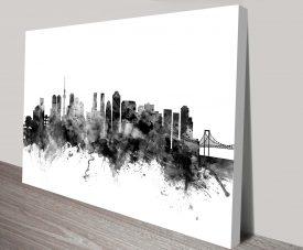 tokyo japan skyline by michael tompsett wall art canvas