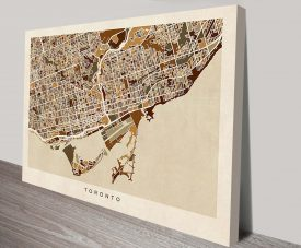 toronto street map canvas art