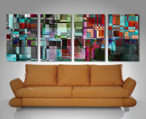 transcendence 4 panel wall art canvas print
