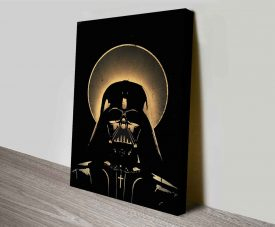 vintage darth vader wall art print on canvas australia