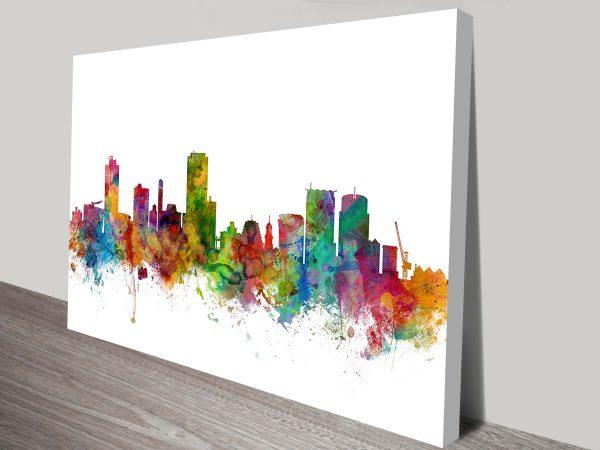 wellington new zealand skyline by michael tompsett wall art canvas