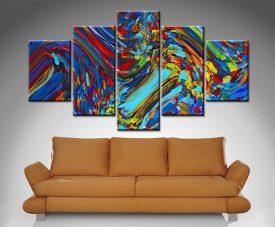 free spirit 5 panel canvas wall art print