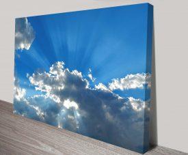 blue skies wall art print on canvas australia