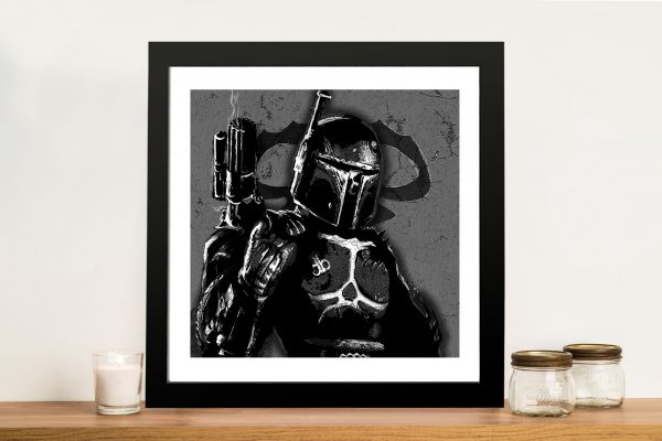 dark boba black white Framed Wall Art Australia