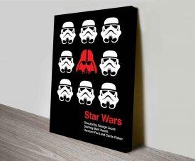 stormtroopers helmets in star wars on canvas print australia