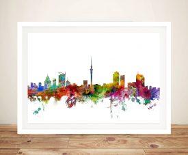 Auckland New-Zealand Skyline Framed Wall Art