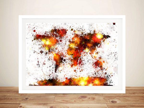 World Map Paint Splashes by Michael Tompsett Wall Art Canvas