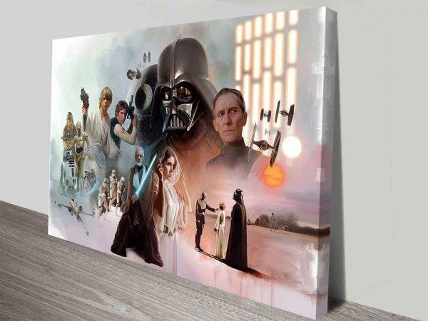 star wars original cast canvas wall art