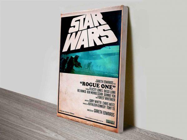 star wars rogue oneretro style poster wall art canvas australia