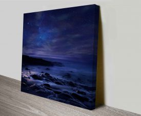 midnight ocean canvas wall print online