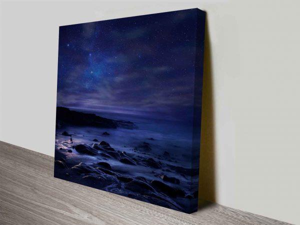 midnight ocean canvas wall print online