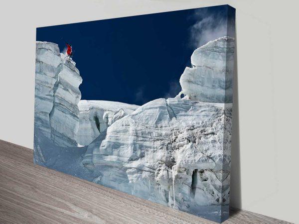 snow covered canyon custom wall art print