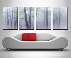 dream trees 4 panel custom wall art
