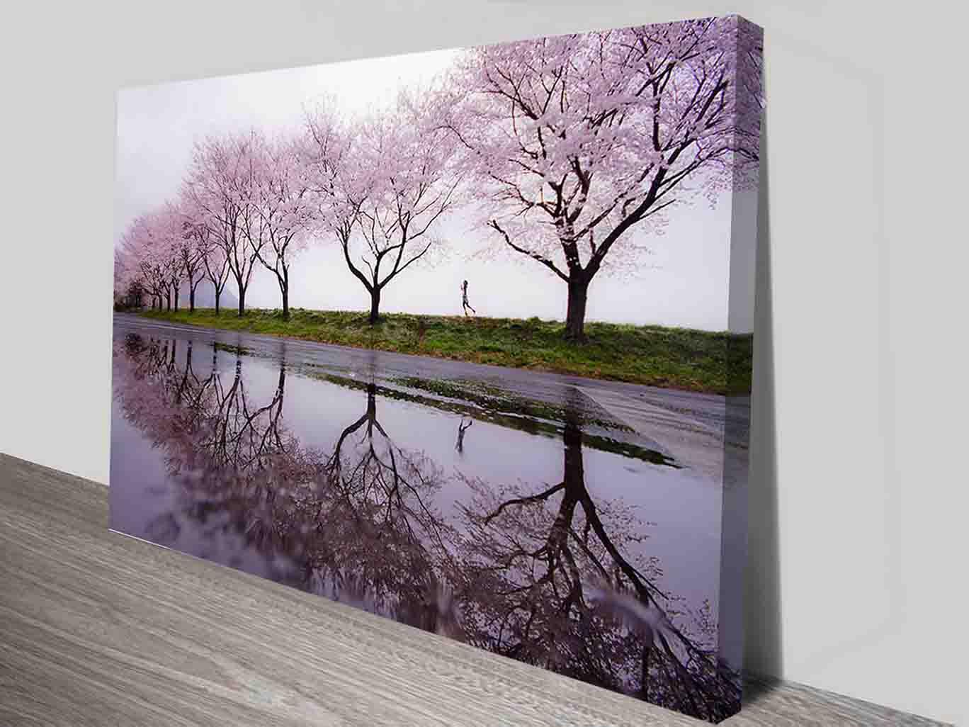 Cherry blossom child cheap photo canvas prints sale art for Cheap canvas prints for sale