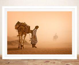 sandstorm framed Wall Art