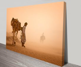 crossing the desert wall art print online