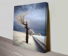 winter twisted tree online custom print