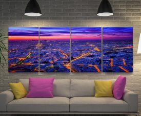 Paris at Dusk 4-Panel Beautiful Photo Art