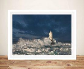 Sea worn lighthouse Framed Wall Art