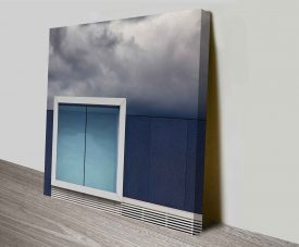 cloudy reflection wall art print to canvas