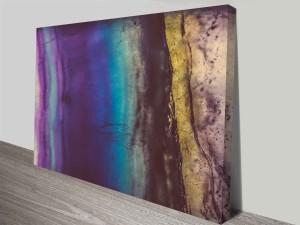 blue violet fluorite wall art custom photo print