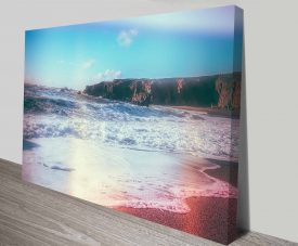 california ocean dreaming canvas wall art print