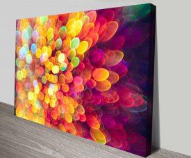 champagne sparkles custom canvas wall art
