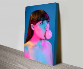 bubblegum yum pop photo canvas wall art