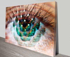 eye am green elena kulikova print