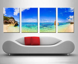 paradise lost 4 panel custom canvas art