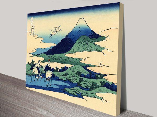 Umegawa in Sagami Province Katsushika Hokusai Framed Picture
