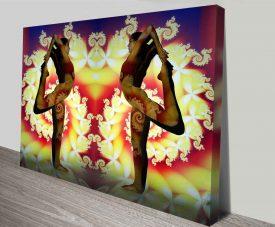 yogi fractal elena kulikova wall art canvas print
