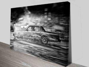Car Black and White Photo Canvas Print